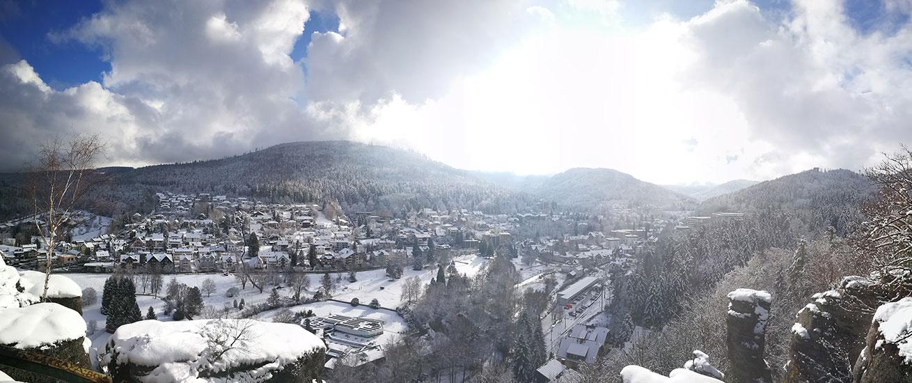 Bad Herrenalb im Winter
