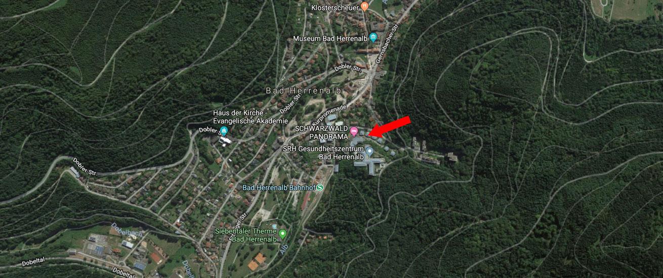 Hotel Schwarzwald Panorama: Lage (Karte)
