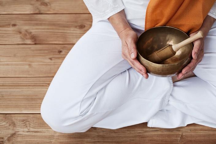 Meditation mit Klangschale