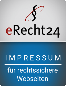 erRecht24 Siegel Impressum